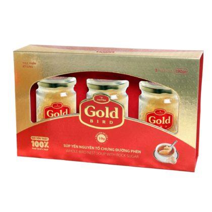Hộp Quà 30 gram Yến Sào Nguyên Tổ Chưng Đường Phèn –  Gold Bird – Yến Sào Plaza