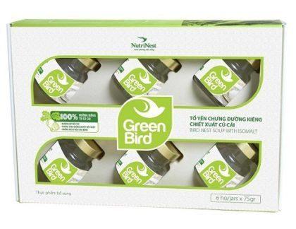 Nước Yến Sào Chưng Đường Kiêng  Green Bird – Hộp Quà 6 Hũ  – Yến Sào Plaza